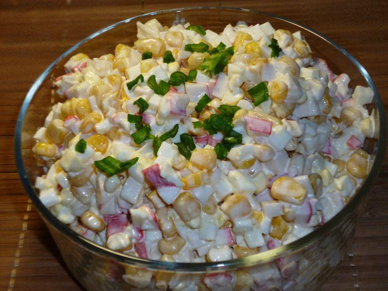 Салат из крабовых палочек обычный рецепт 171