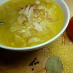 Суп-кулеш пшённый с курицей