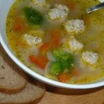 Суп  с фрикадельками и геркулесом