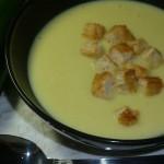 Суп-пюре из кабачков и сыра