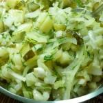 Салат картофельный по-немецки