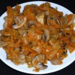 Грибной салат (низкокалорийный)