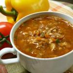Чечевичный суп по-болгарски