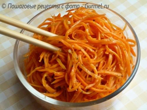 Рецепт моркови по-корейски с пошаговым фото