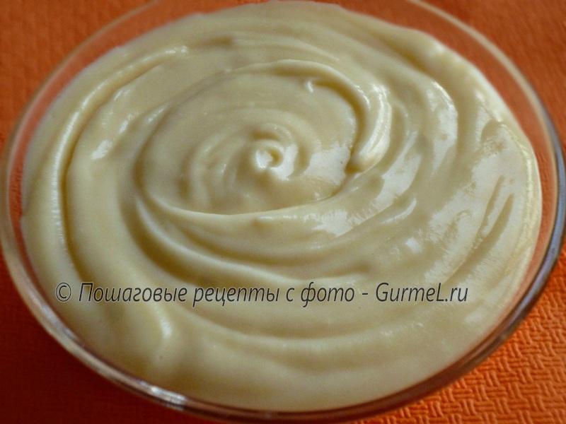 Заварной крем на кефире рецепт с фото
