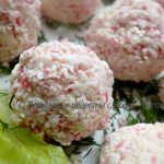 Сырно-крабовые шарики закусочные